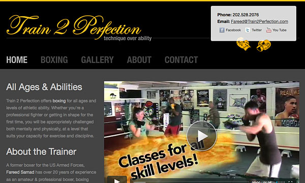 Train 2 Perfection Website