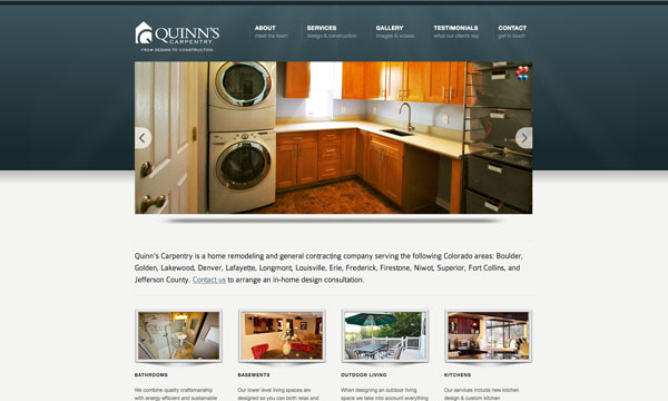 Quinn's Carpentry Home page